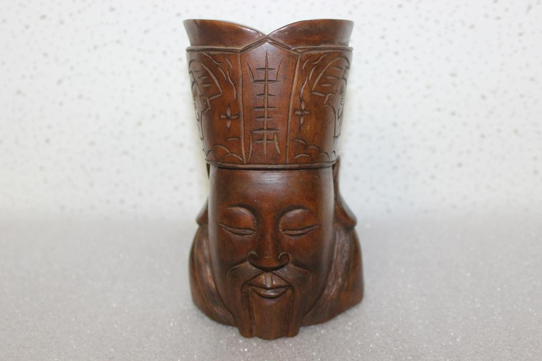 A Vintage Wooden Chinese Figurine