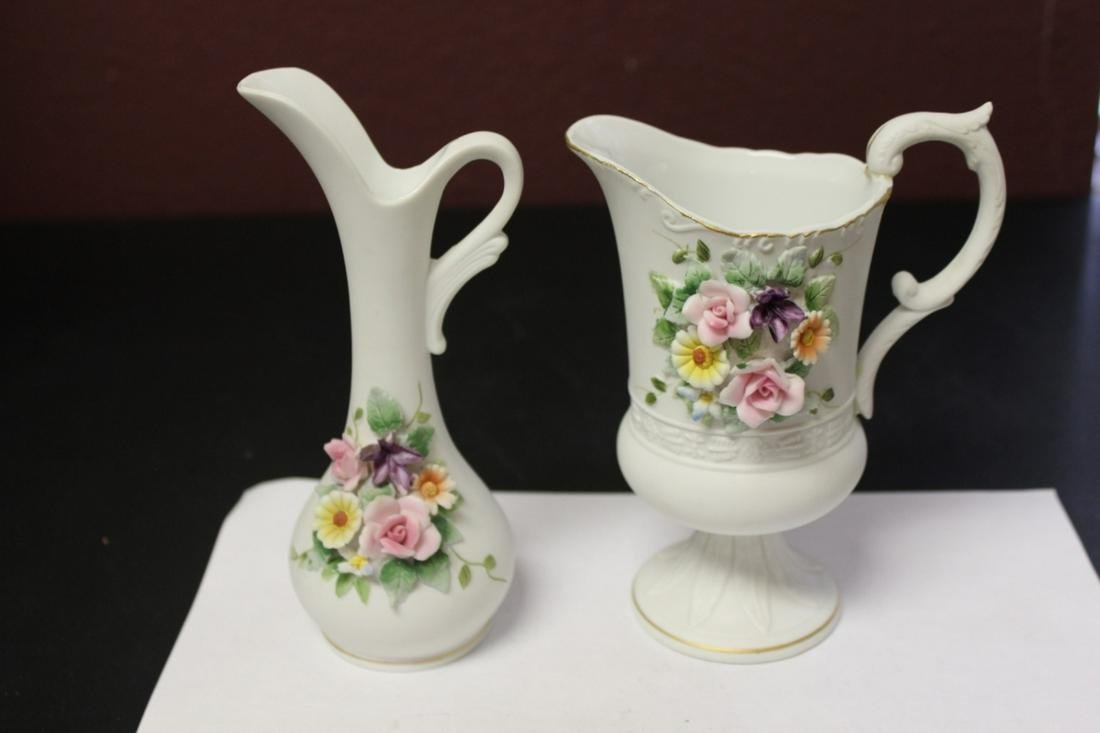Lot of Two Lefton Ewer Pitcher