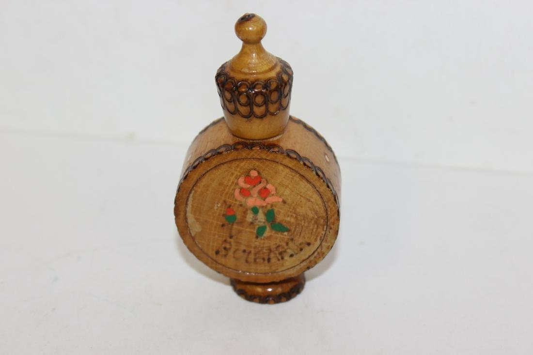 A Vintage Wooden Scent Bottle