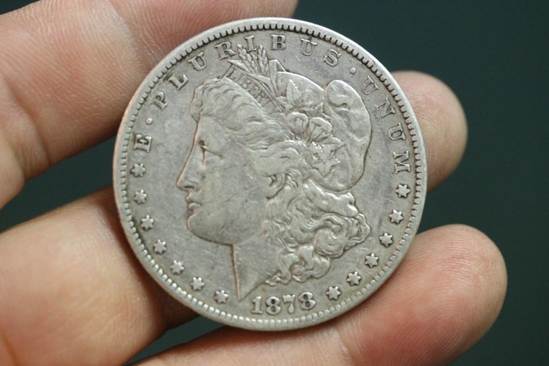 A Rare 1878-CC Morgan Silver Dollar