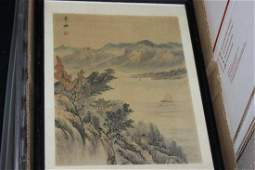A Signed Chinese Pastel on Silk Painting