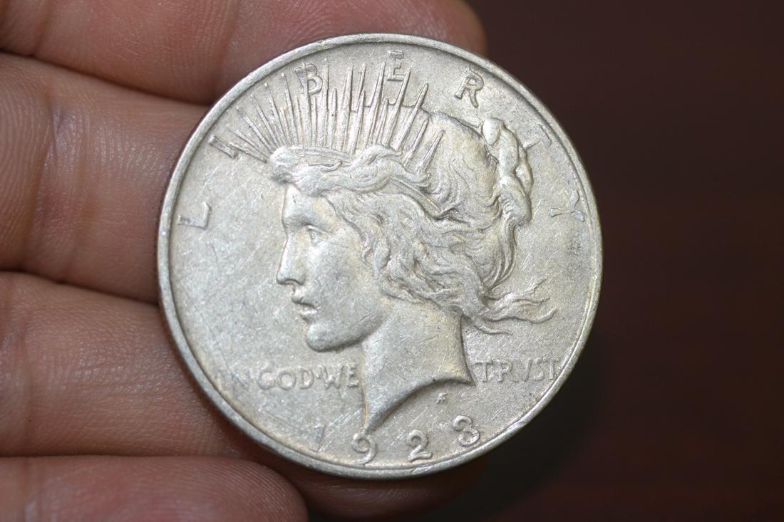 A 1923-D Peace Silver Dollar