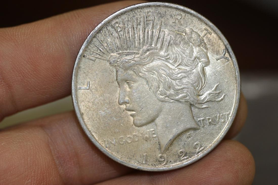 A 1922 Peace Silver Dollar