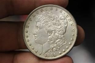 An 1896 Morgan Silver Dollar