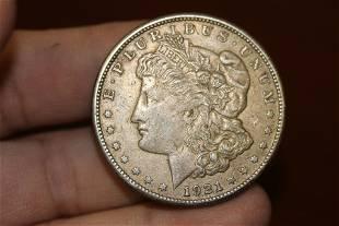 A 1921S Morgan Silver Dollar