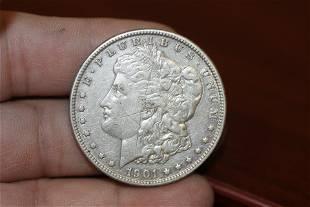 A 1901O Morgan Silver Dollar