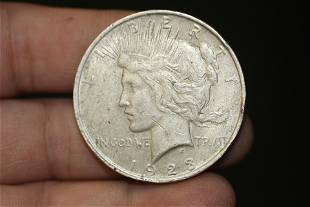 A 1923 Peace Silver Dollar
