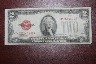 A 1928 Red Seal 200 Note