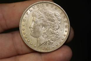 An 1881 Morgan Silver Dollar