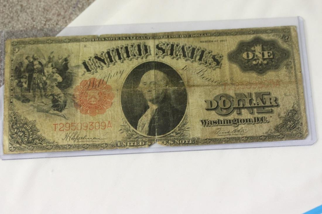 A 1917 One Dollar Note
