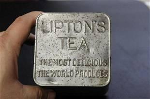 Vintage Liptons Tea Tin Can Planter Ceylon