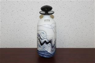 A Signed Gozo Modern Art Glass Perfume Bottle
