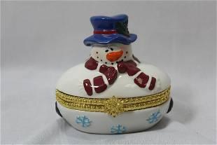 A Snowman Trinket Box