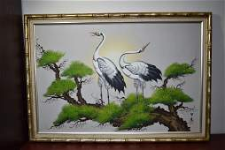 A Chinese Signed Oil on Canvas