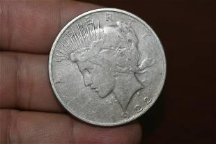 A 1922O Peace Silver Dollar