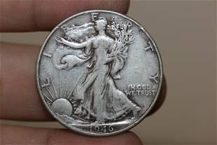 A 1946 Walking Liberty Half Dollar