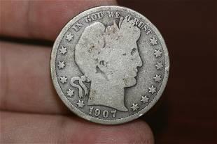 A 1907D Half Dollar
