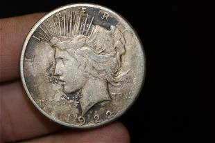 A 1922S Peace Silver Dollar