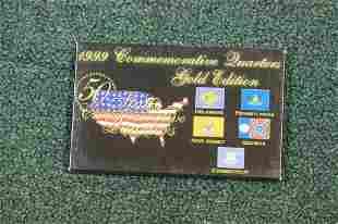 A 1999 Commemorative Quarters Gold Edition Set