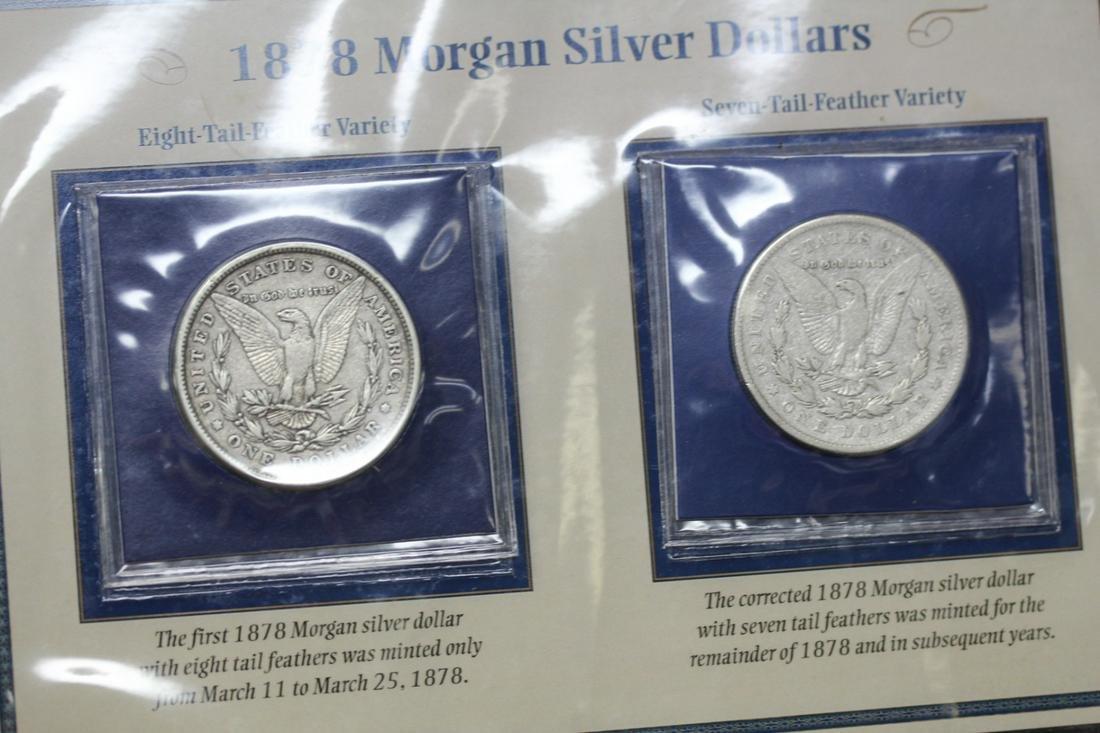Lot of 2 Morgan Silver Dollars - 1878