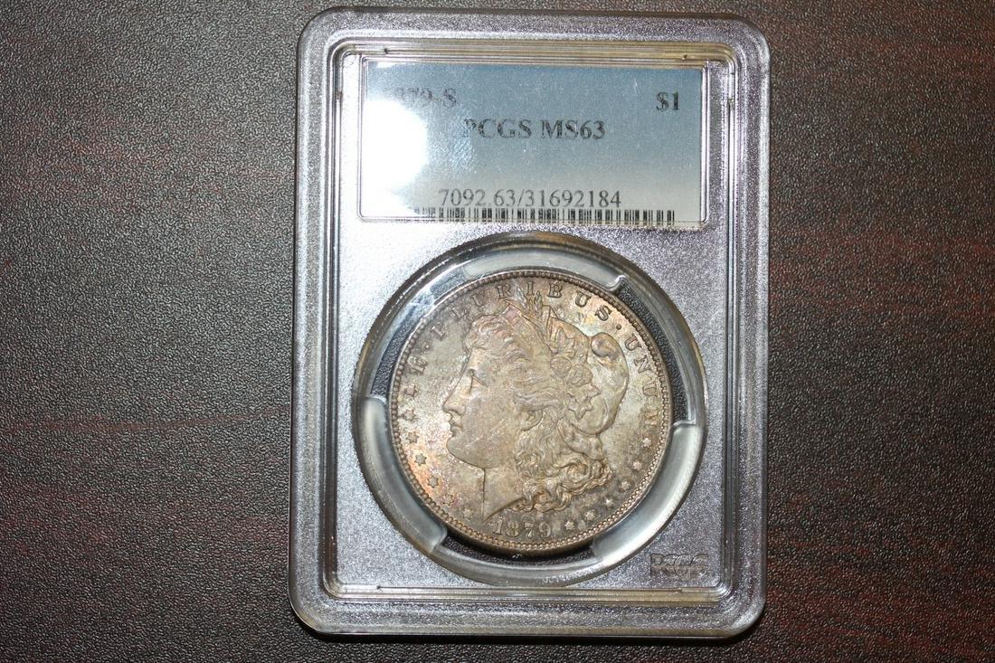 A PCGS Graded 1879-S Morgan Silver Dollar