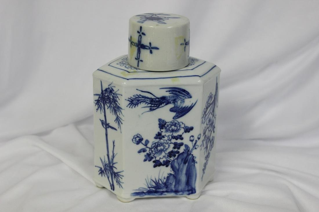 A Vintage Blue and White Jar