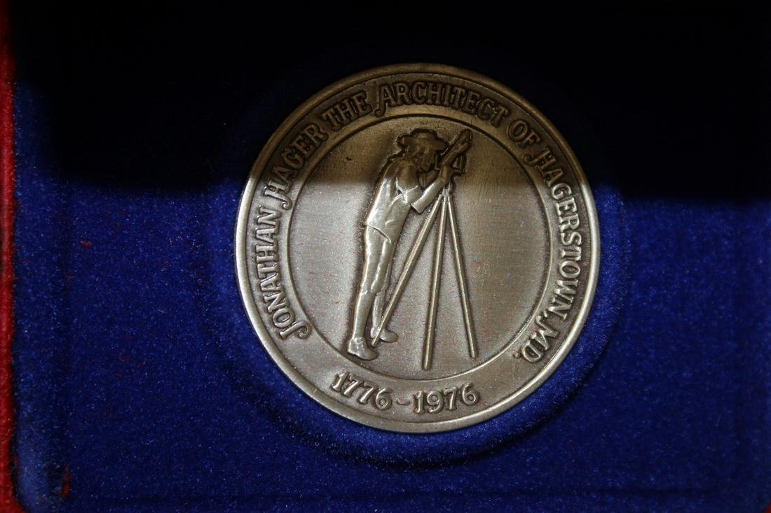 A Jonathan Hager Sterling Silver Medal