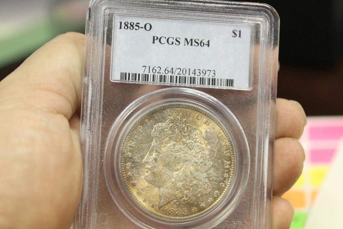 A PCGS Graded 1885-O Morgan Silver Dollar