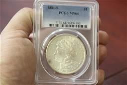 A PCGS Graded 1881S Morgan Silver Dollar