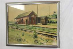 A Signed, Framed Watercolour by Rose Ann Ludford