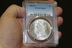 A PCGS Graded 1884O Morgan Silver Dollar