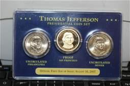 A Thomas Jefferson Presidential Coin Set