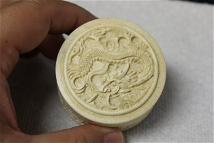 For Auction A Chinese Well Carved Bone Trinket Or Pill Box 10118 On Jun 26 2020 Lakeland Antique Bazaar In Fl