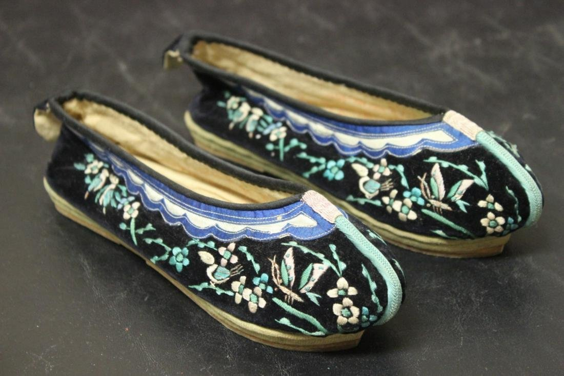 A Pair of Vintage Silk Shoes - Chinese