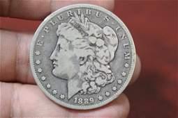 An 1889O Morgan Silver Dollar