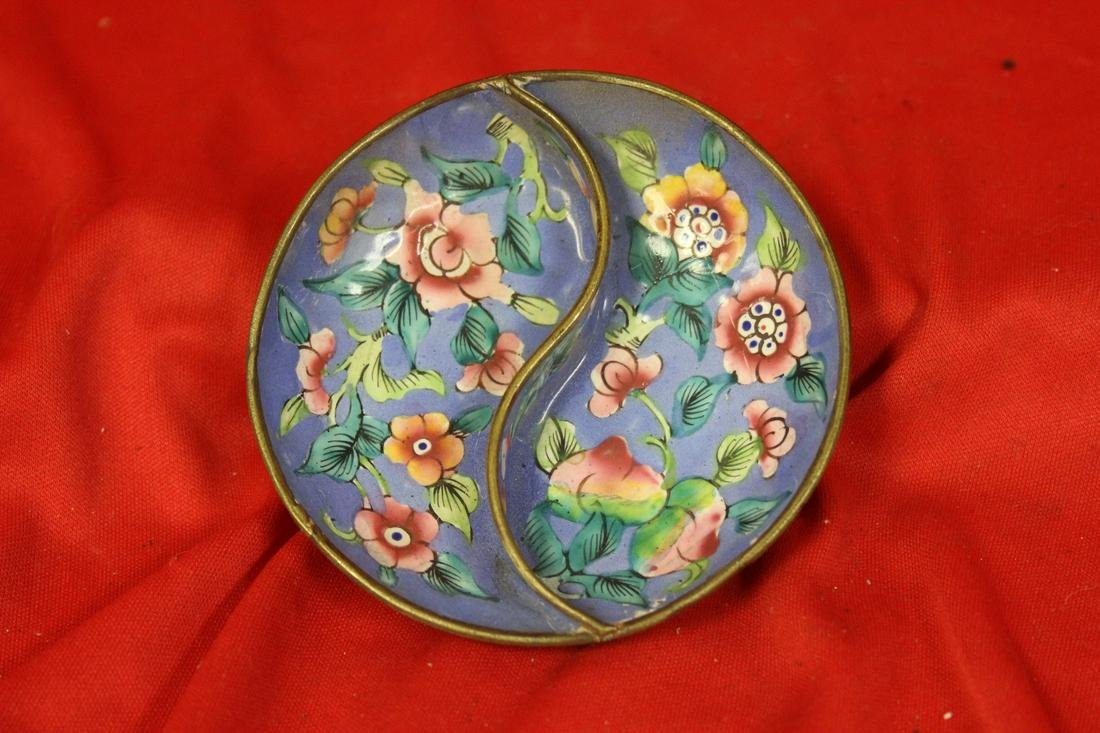 A Canton Enamel Chinese Small Dish