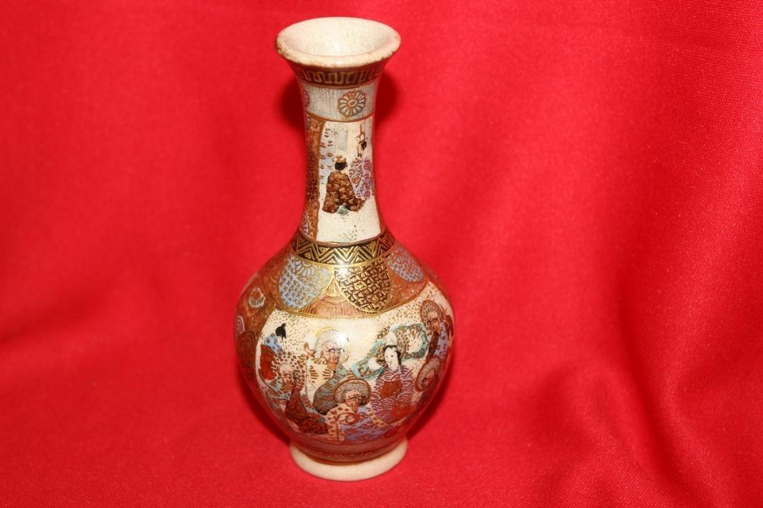 A Signed Satsuma miniature Vase