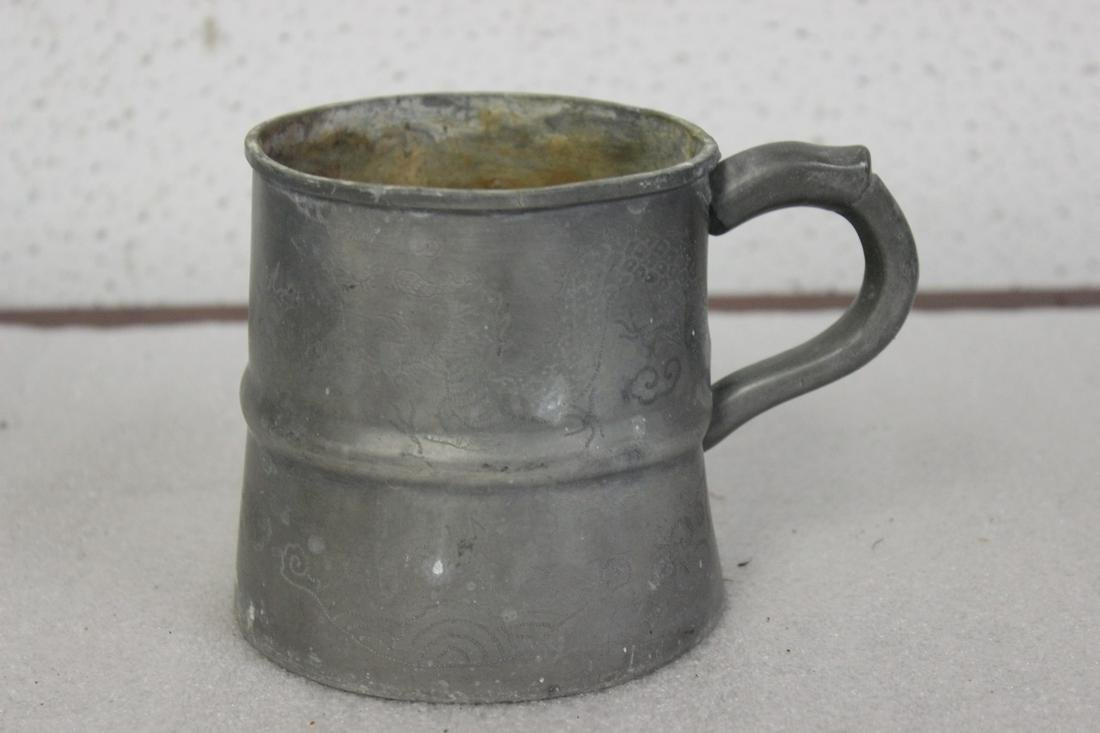 A Dragon Pewter Cup