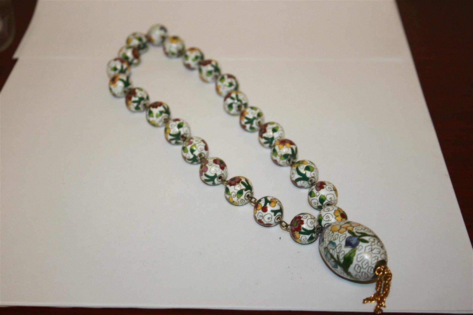 A Cloisonne Necklace