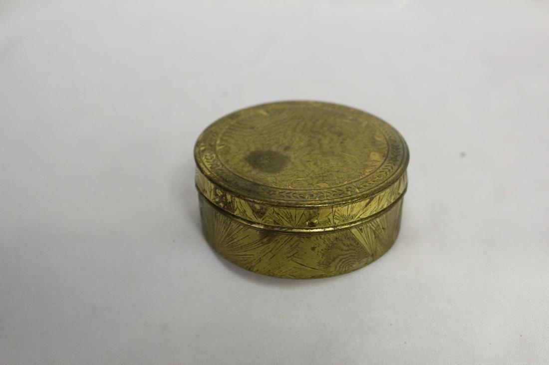 A Metal Compact / Pill Box