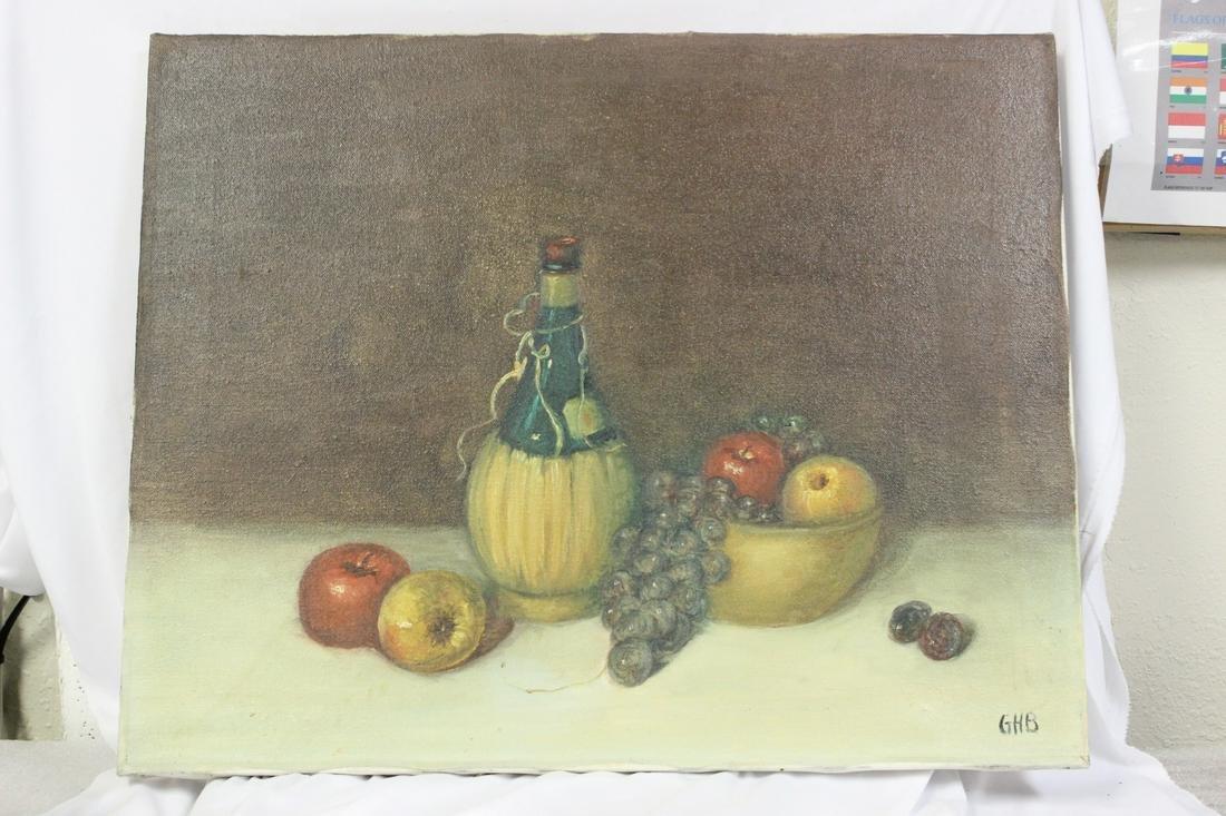 An Oil on Canvas - Still Life