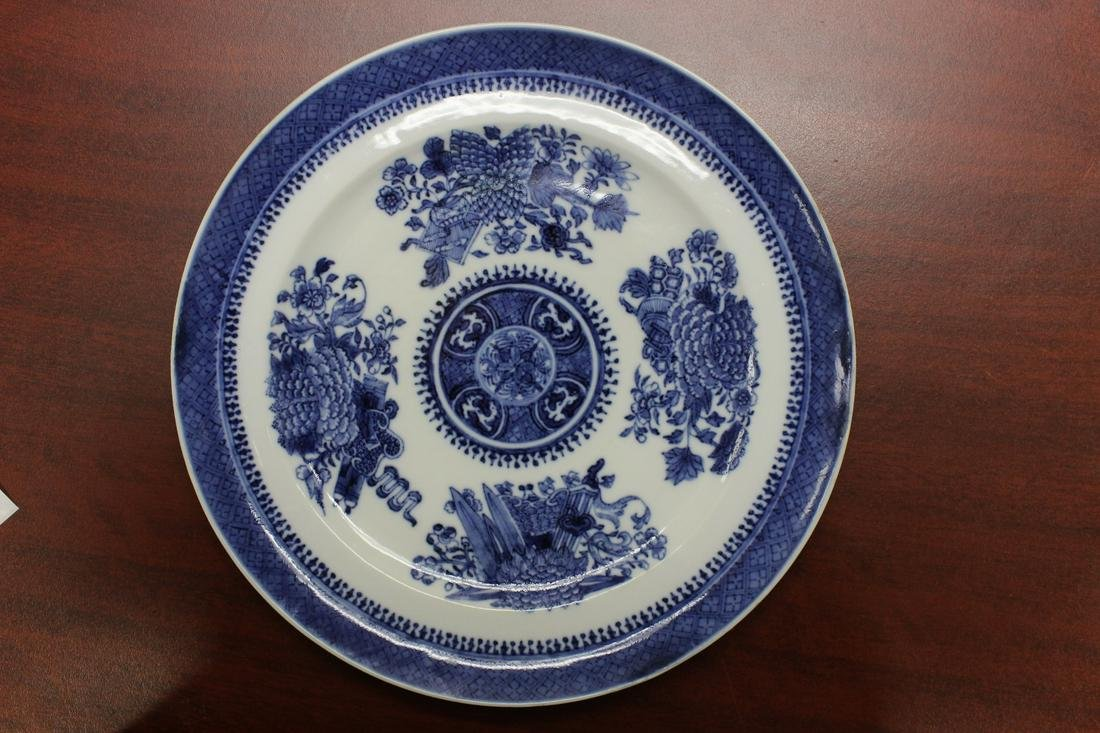 A Chinese Export Blue and White Plate