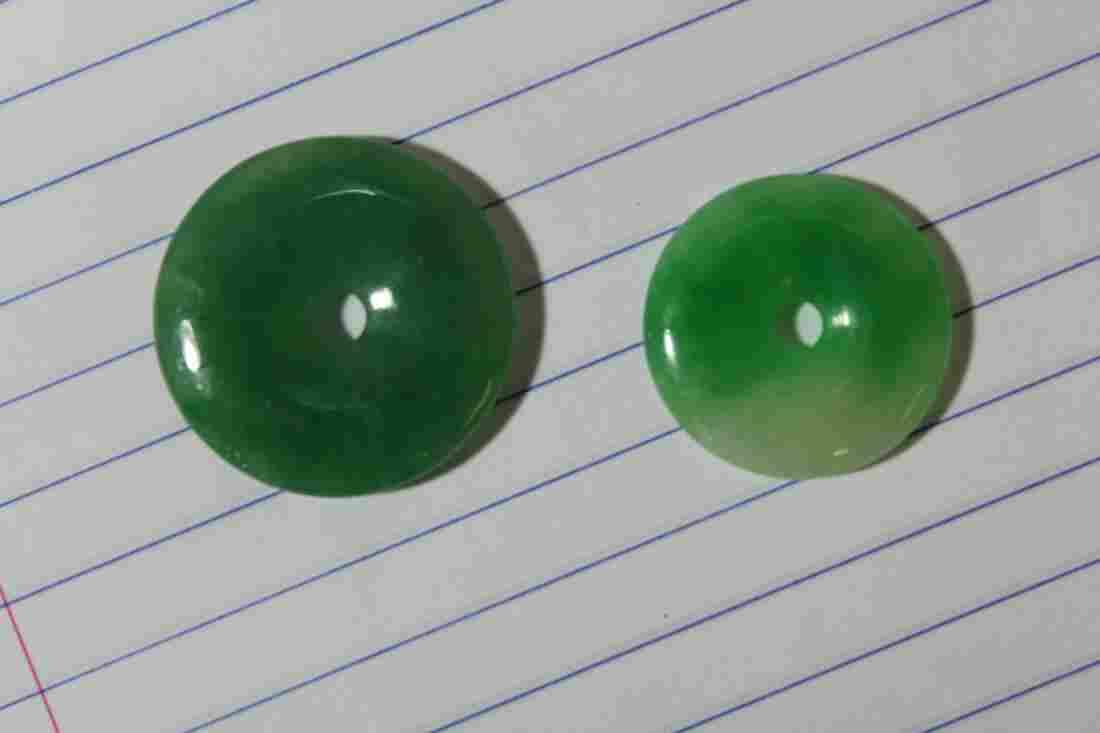 Lot of 2 Jadeite Discs***