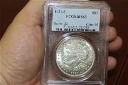 A PCGS Graded 1921S Morgan Silver Dollar