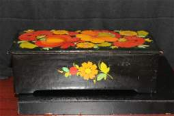 A Hand Painted Russian Lacquer Wooden Box