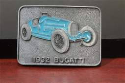A 1932 Bugatti Enamel Belt Buckle