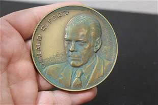 A Gerald Ford Bronze Metal Medallion