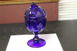 A Blue Glass Compote