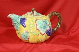 A Signed Pottery Teapot