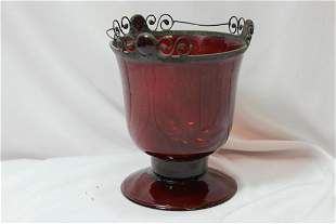 A Ruby Red Glass Cup